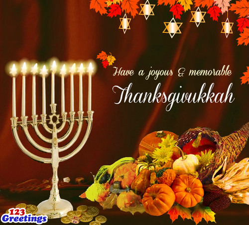 Happy Thanksgivukkah!  (PRNewsFoto/123Greetings.com)