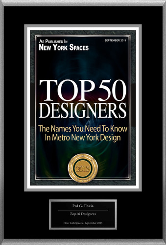 "Pol G. Theis Selected For ""Top 50 Designers."" (PRNewsFoto/American Registry)"