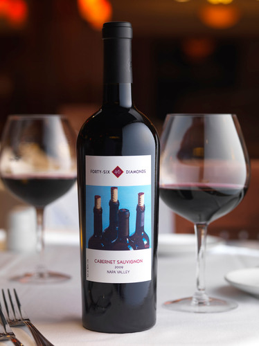 Fleming's Prime Steakhouse & Wine Bar partners with Napa Valley's Hall Winery to create a new private label boutique wine. Forty-Six Diamonds 2009 Cabernet Sauvignon Limited Edition is now available in the restaurants.  (PRNewsFoto/Fleming's Prime Steakhouse & Wine Bar)