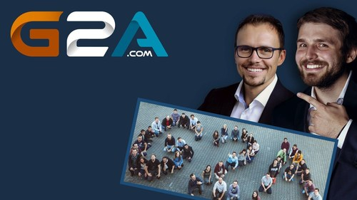 G2A Co-founders, Bartosz and Dawid now employ over 380 employees from 25 countries! (PRNewsFoto/G2A.com) ...