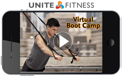 Unite's Virtual Boot Camp uses the highly effective and mobile suspension trainer to help clients Train Better Anywhere.