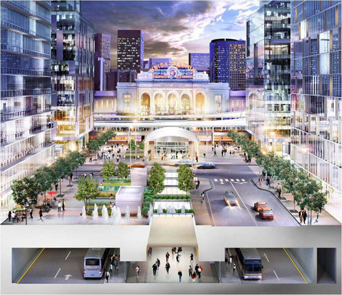 Denver's Union Station Project - Rendering.  Credit RTD Denver.  (PRNewsFoto/VISIT DENVER, The Convention & Visitors Bureau)