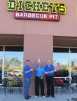 Dickey's Barbecue Pit opens in Palm Springs on Thursday with a three day grand opening. Three guests win free barbecue for a year!