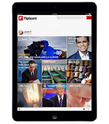 CNN comes to Flipboard.  (PRNewsFoto/Flipboard)