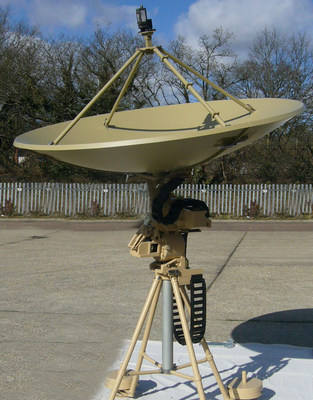 TCS' Deployable X/Y Antenna System for Tracking Low-Earth and Medium-Earth Orbit Satellites