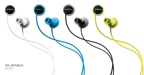 SOL REPUBLIC Introduces Relays, the First Cross-Over Headphone for Work, Play and Sport.  (PRNewsFoto/SOL ...