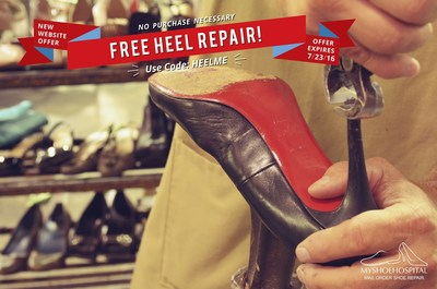 100 year-old company, My Shoe Hospital, has developed a new website for ordering shoe repair anywhere in the United States and is even offering a free heel repair to anyone willing to give the service a try. Use code HEELME at checkout on MyShoeHospital.com until 7/23/16.