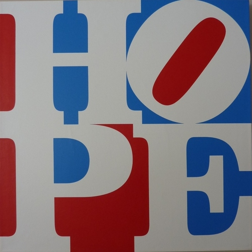 Robert Indiana, Hope, 2008. A unique painting on triple-primed canvas, wooden frame. (c) Robert Indiana. Courtesy Long-Sharp Gallery, Indianapolis. (PRNewsFoto/Long-Sharp Gallery)