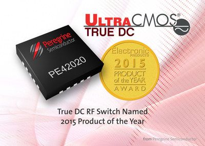 "Electronic Products magazine named Peregrine Semiconductor's True DC RF switch a 2015 ""Product of the Year."""
