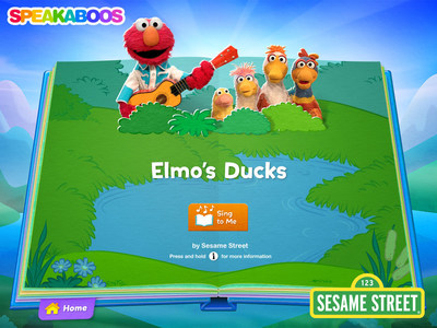 """Elmo's Ducks"" is one of ten popular Sesame Street titles being added to Speakaboos, the award-winning digital storybook library designed to spark kids' love of reading."