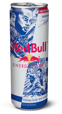 Nets Point Guard Deron Williams and World-Class Street Artist and Brooklyn resident, Tristan Eaton, unveil a limited edition Red Bull Energy Drink can available in New York October through December. (PRNewsFoto/Red Bull North America) (PRNewsFoto/RED BULL NORTH AMERICA)