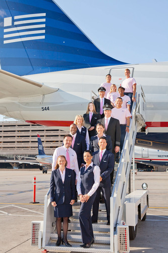 US Airways employees will BE PINK in October as part of the airline's partnership with the American Cancer ...