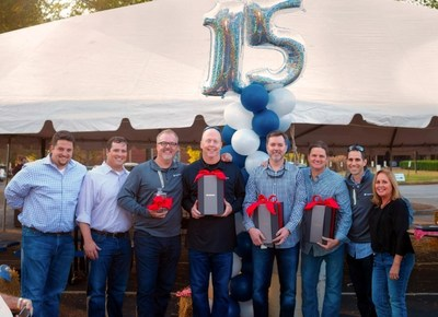 The VeriStor team celebrates 15-years of growth and success.