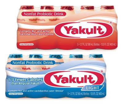 Yakult Light and Regular Yakult.  (PRNewsFoto/Yakult U.S.A. Inc.)