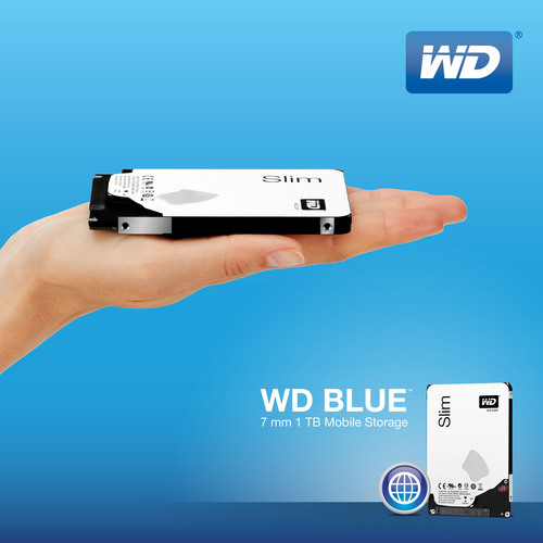 WD(R) Delivers World's Thinnest 1 TB Hard Drive.  (PRNewsFoto/WD)