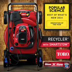 Briggs & Stratton Corporation's Mow 'N' Stow engine, exclusively on Toro(R) Recycler(R) mowers with SmartStow(TM), was chosen as a winner in the home category of Popular Science's 27th Annual Top 100: Best of What's New Awards.