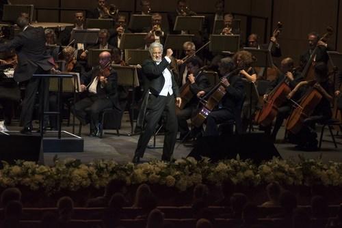 Placido Domingo takes to the stage at the first night of the Dubai Opera. (PRNewsFoto/Dubai Opera)