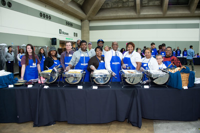 Volunteers at Goodwill's Thanksgiving Dinner & Resource Fair
