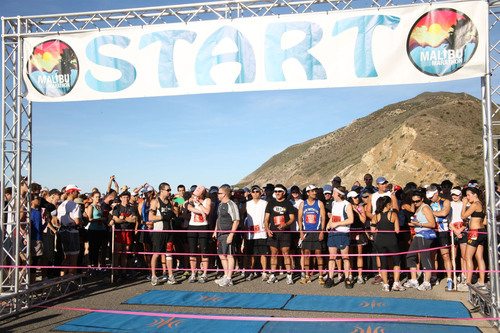 At Point Mugu along the California coastline more than two thousand runners prepare for the Run to Paradise.   ...