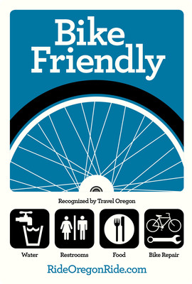 Travel Oregon Unveils First Statewide Bike Friendly Business Program in the Nation Geared Towards Travelers.  (PRNewsFoto/Travel Oregon)