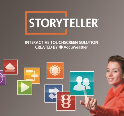 StoryTeller Interactive Touchscreen Solution by AccuWeather