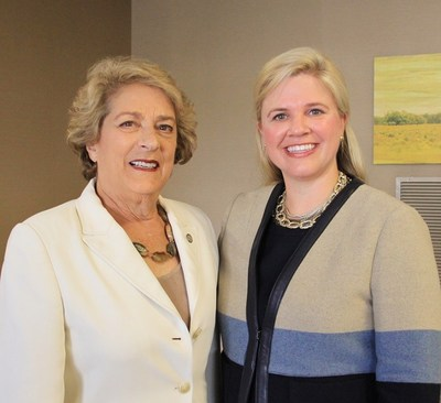 (Left to Right) The Honorable Ellen Cohen, Mayor Pro Tem, City of Houston, and The Woman's Hospital of Texas CEO Ashley McClellan at the 40th Anniversary Celebration.
