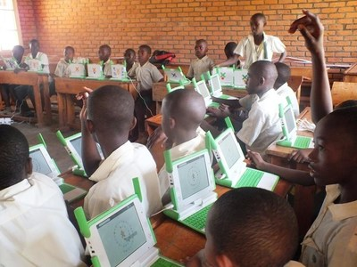 Rwanda is supplying computers to all primary schools as a tool to facilitate their learning, an investment seen as a foundation for Rwanda's future. Some pupils have already become basic programmers. Photo:Claude Ntawitonda (PRNewsFoto/KT Press)