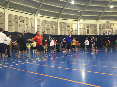 Notre Dame teamed up with Wounded Warrior Project to host a group workout for wounded veterans!