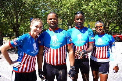 WWP Alumni taking a break during the 2015 Wounded Warrior Project Soldier Ride in Atlanta.
