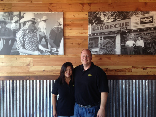 The new Dickey's Barbecue Pit in Pinole opens on Thursday.  Local owners Anthony and Sherry LoForte.  (PRNewsFoto/Dickey's Barbecue)