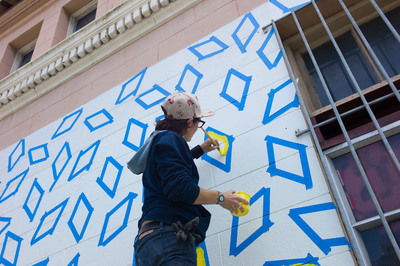 ABSOLUT's Open Canvas transformed Divisadero Street in San Francisco to inspire creative risk taking as part of new TRANSFORM TODAY campaign.  (PRNewsFoto/ABSOLUT)