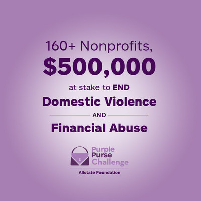 Allstate Foundation is awarding $500,000 in donations during the Purple Purse Challenge. Donate at PurplePurse.com