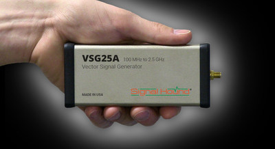 Signal Hound's new VSG25A Vector Signal Generator Sells for Just $495 and operates from 100 MHz to 2.5 GHz with digital test pattern generation.