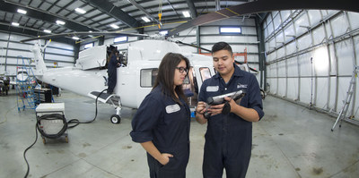 Students enrolled in the Aircraft Maintenance Engineer program at the Saskatchewan Indian Institute of Technologies in Saskatoon, Canada have begun using a Sikorsky S-76A(TM) maintenance trainer as a hands-on training aid. Students will gain early first-hand knowledge of the inspection, maintenance, and repair of a fully rigged helicopter, including its electronic, mechanical, and hydraulic systems. The maintenance trainer is an investment by Sikorsky to develop a new generation of skilled aircraft maintainers.