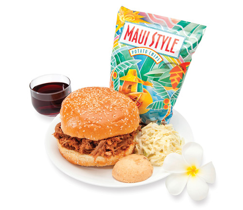 Kalua Pork Sandwich is one of Hawaiian's new Premium Meals offered for purchase that reflect the ...