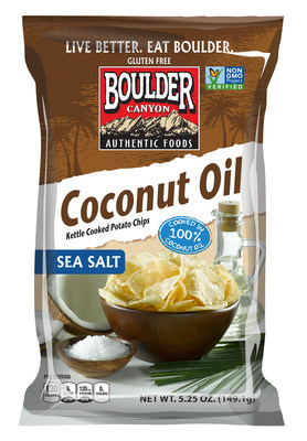 Boulder Canyon Foods advances better-for-you snacking with the introduction of Coconut Oil Kettle Cooked Potato Chips