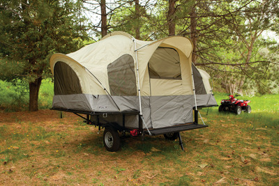 Recreational-Sized Tent Quickly Turns Everyday Utility Trailer into Convenient Tent Camper