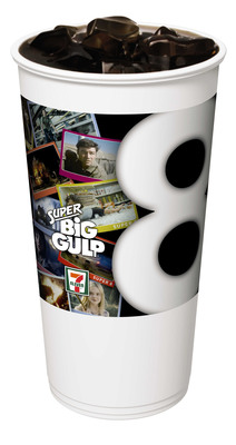 7-Eleven stores' Super 8 movie promotion this June has out-of-this-world prizes, like a trip to space and zero-gravity experiences. Also offered in stores is this Super Big Gulp cup that features scenes from the Paramount Pictures film to be released nationwide June 10..  (PRNewsFoto/7-Eleven, Inc.)