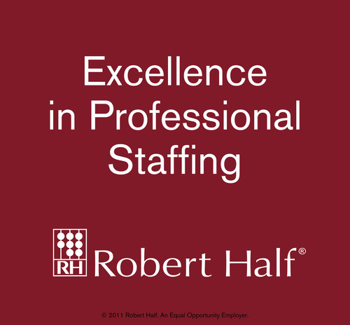 Robert Half Professional Employment Report: Professional-Level Hiring to Remain Steady; Executives