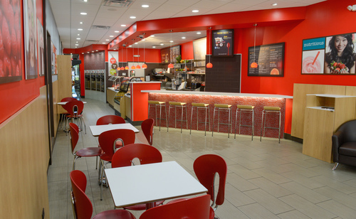 Red Mango Yogurt Cafe & Juice Bar interior, Oak Park, Ill. (PRNewsFoto/Red Mango)
