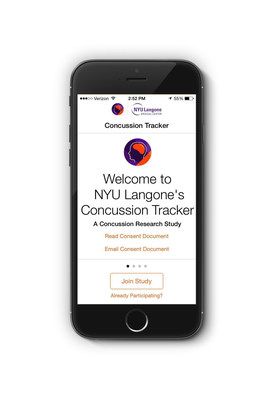 Free NYU Langone Concussion Tracker App Now Available in Apple's App Store to Help People with Concussion Monitor Symptoms
