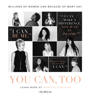 "Mary Kay's new ""I CAN"" advertising campaign spotlights Mary Kay entrepreneurs who share their inspirational stories about how the Mary Kay business has positively impacted their lives. From 'I can make a difference, not just an income' to 'I can be me,' the raw and powerful stories can be found throughout social channels by searching #MyMKLife."