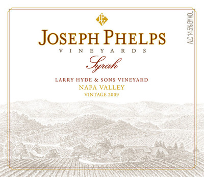 2009 Joseph Phelps Syrah, Larry Hyde & Sons Vineyard label.  (PRNewsFoto/Joseph Phelps Vineyards)