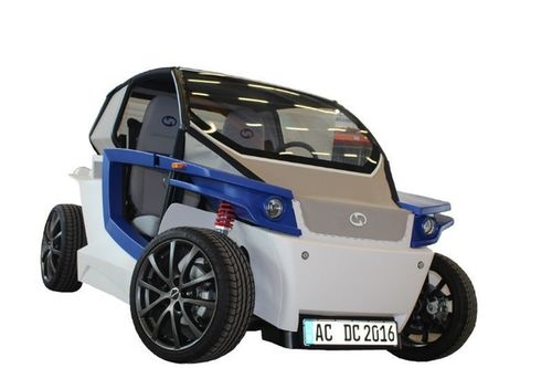 The fully-functional prototype of StreetScooter C16 electric car was developed in just 12 months by replacing traditional automotive manufacturing processes with Stratasys 3D printing throughout the design phase. (PRNewsFoto/Stratasys Ltd)