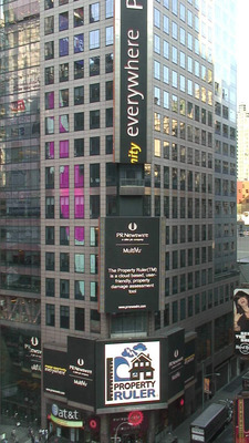 Property Ruler Software featured in Times Square, NEW YORK, NY.  (PRNewsFoto/IT Strategies Group)