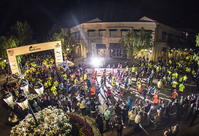 Participants in the Wings for Life World Run take off Sunday morning in Santa Clarita, Calif., one of 34 locations around the world shining a light on spinal cord injury research.