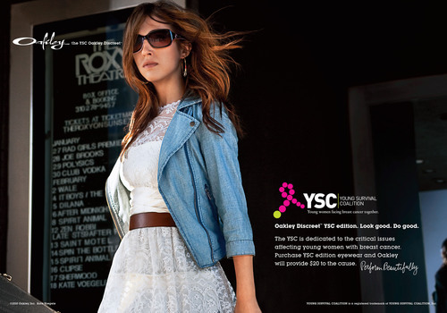 Oakley Breast Cancer Awareness Collection, supporting - Young Survival Coalition. (PRNewsFoto/Young Survival ...