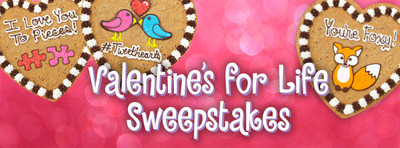Enter to win with one free Valentine's Day Cookie Cake per year, for the next 30 years.