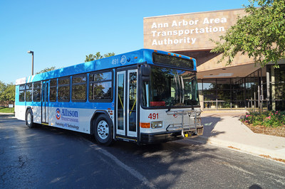 Allison Transmission and TheRide dedicated the first of 60 new buses equipped with the latest advances in fuel economy technology. TheRide is the first transit agency in the world to feature the xFE transmission.