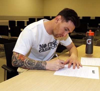 Lionel Messi and Gatorade partner to offer communities around the world words of encouragement, hope and perseverance (PRNewsFoto/Gatorade)